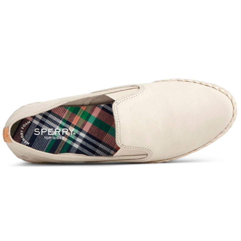 Sperry® Twin-Gore Leather/Jute Slip-Ons -  image number 3
