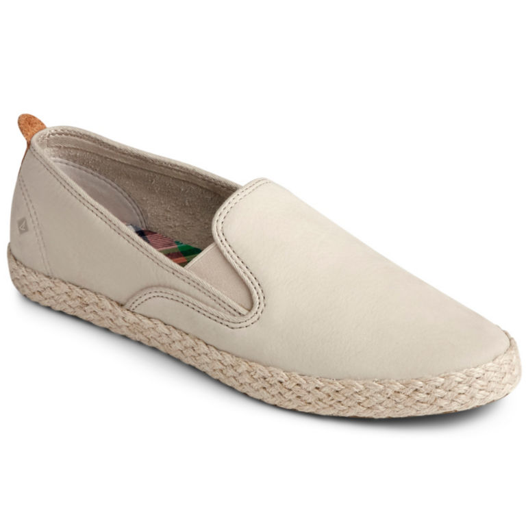 Sperry® Twin-Gore Leather/Jute Slip-Ons -  image number 0