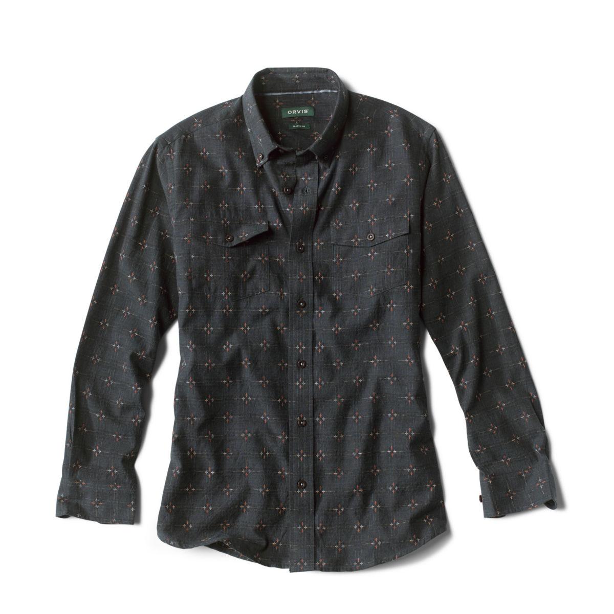 Rough Rock Dobby Long-Sleeved Shirt - DARK NAVYimage number 0
