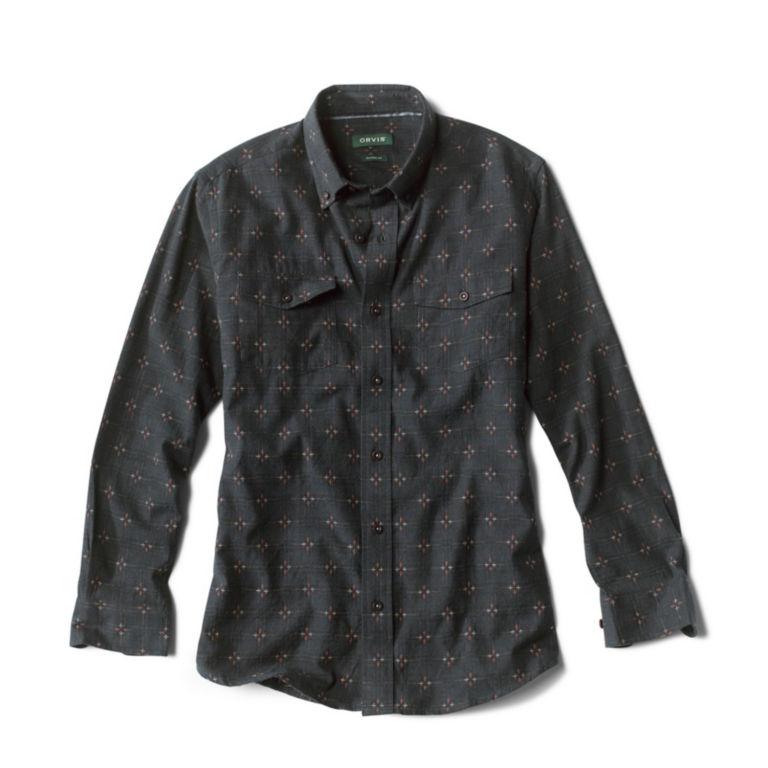 Rough Rock Dobby Long-Sleeved Shirt - DARK NAVY image number 0