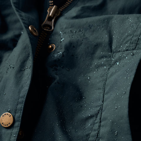 close up of water-resistant fabric