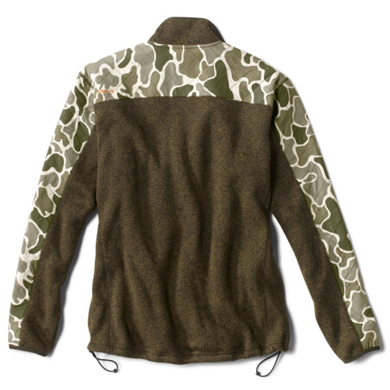 Camo Sweater Fleece Jacket - TARRAGON image number 1