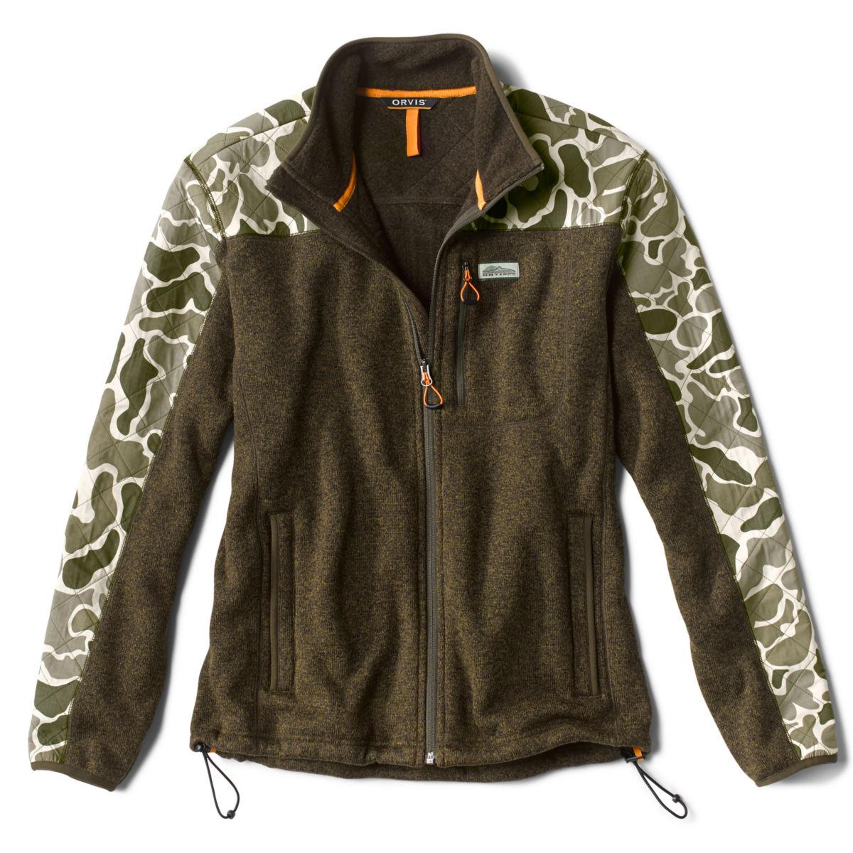 Camo Sweater Fleece Jacket - TARRAGONimage number 0