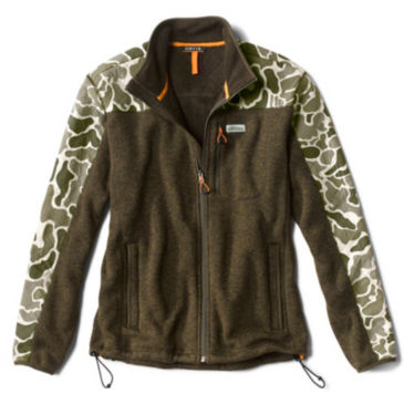 Camo Sweater Fleece Jacket -