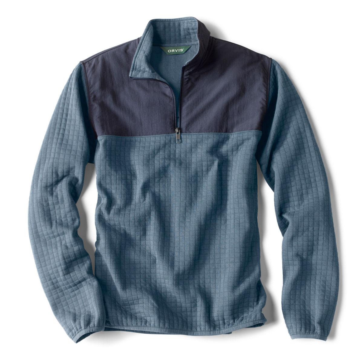 Creston Quarter-Zip Quilted Pullover - BLUEimage number 0