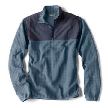 Creston Quarter-Zip Quilted Pullover - BLUE image number 0