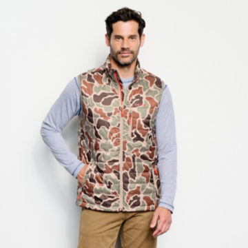 Camo Recycled Drift Vest - BROWN CAMO image number 1