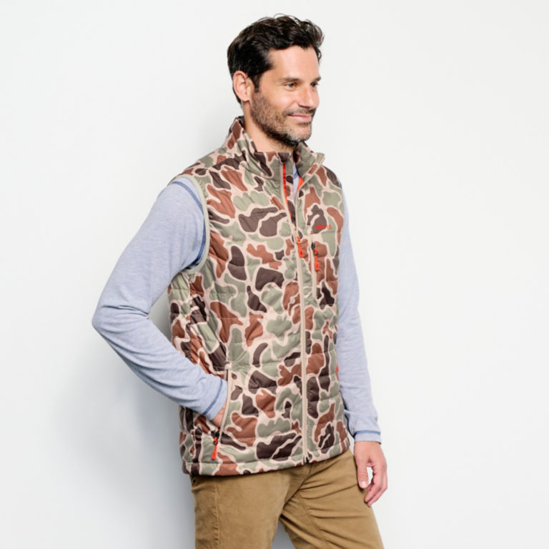 Camo Recycled Drift Vest - BROWN CAMO image number 2