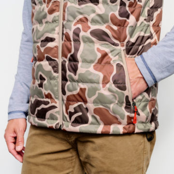 Camo Recycled Drift Vest - BROWN CAMO image number 4
