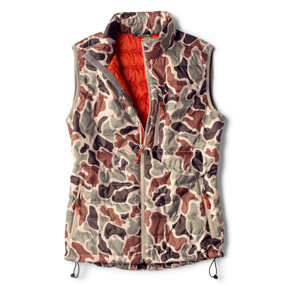 Camo Recycled Drift Vest - BROWN CAMOimage number 0
