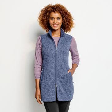 Recycled Sweater Fleece Tunic Vest -