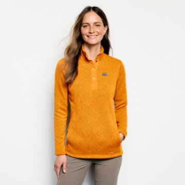 Recycled Sweater Fleece Quarter-Snap Tunic -  image number 0