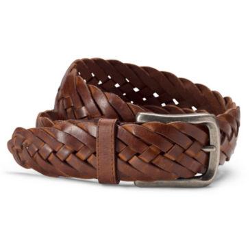 Burnished Leather Braided Belt -