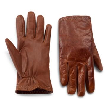 Klondike-Stitch Leather Gloves -