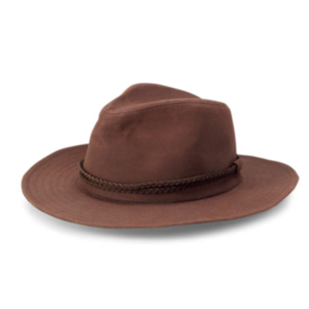 laydown of  River Road Waxed Cotton Hat
