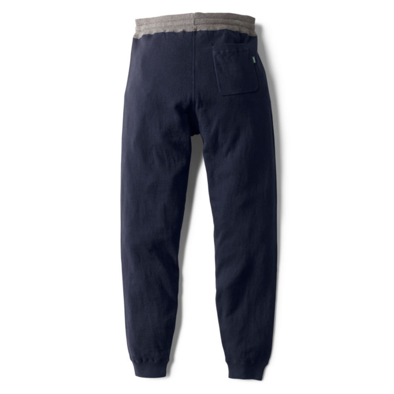 Cotton/Cashmere Sweater Pants - NAVY image number 1
