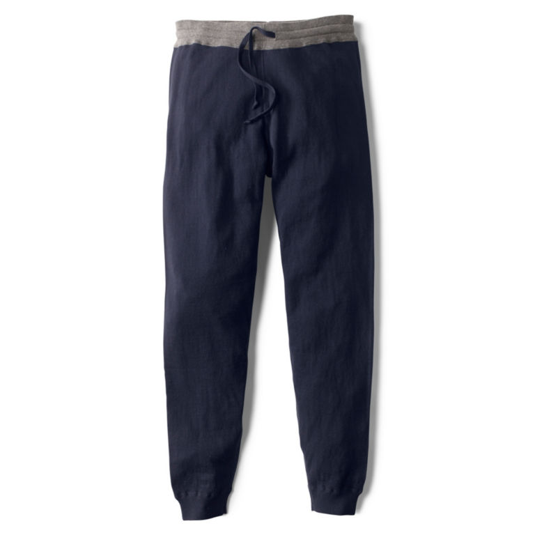 Cotton/Cashmere Sweater Pants - NAVY image number 0