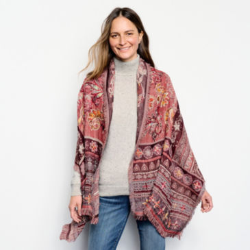 Hand-Embroidered Wrap -
