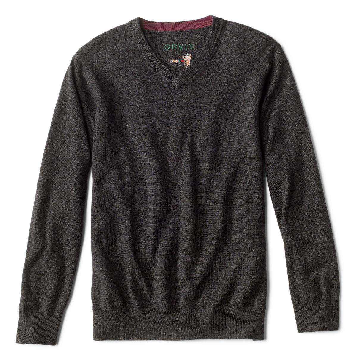 Merino V-Neck Long-Sleeved Sweater - image number 0