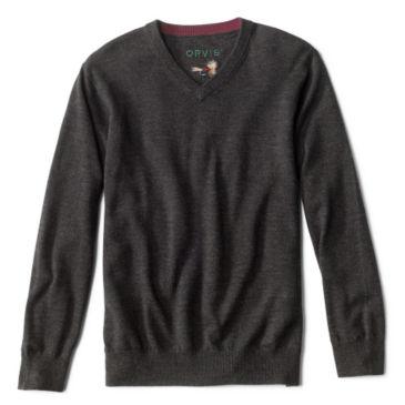 Merino V-Neck Long-Sleeved Sweater -