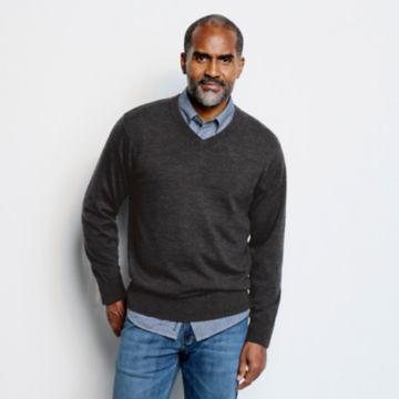 Merino V-Neck Long-Sleeved Sweater -  image number 1