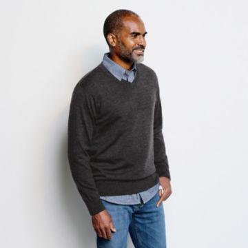 Merino V-Neck Long-Sleeved Sweater -  image number 2