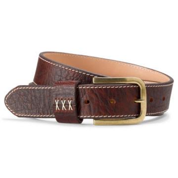 Contrast Stitch Bison Belt - SANDSTONE image number 0