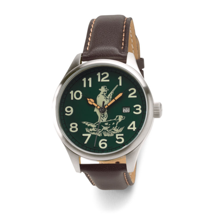 Sporting Traditions Watch - BROWN/HUNT LOGO image number 0
