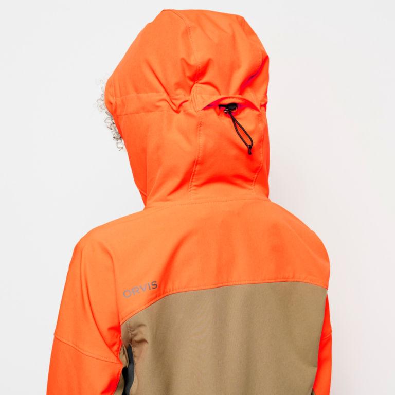 Women's PRO LT Softshell Hoodie - BLAZE ORANGE image number 5