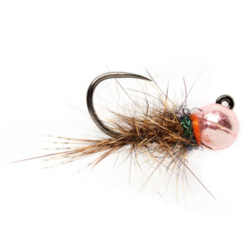Barbless Roza's Pink Hare's Ear Jig -