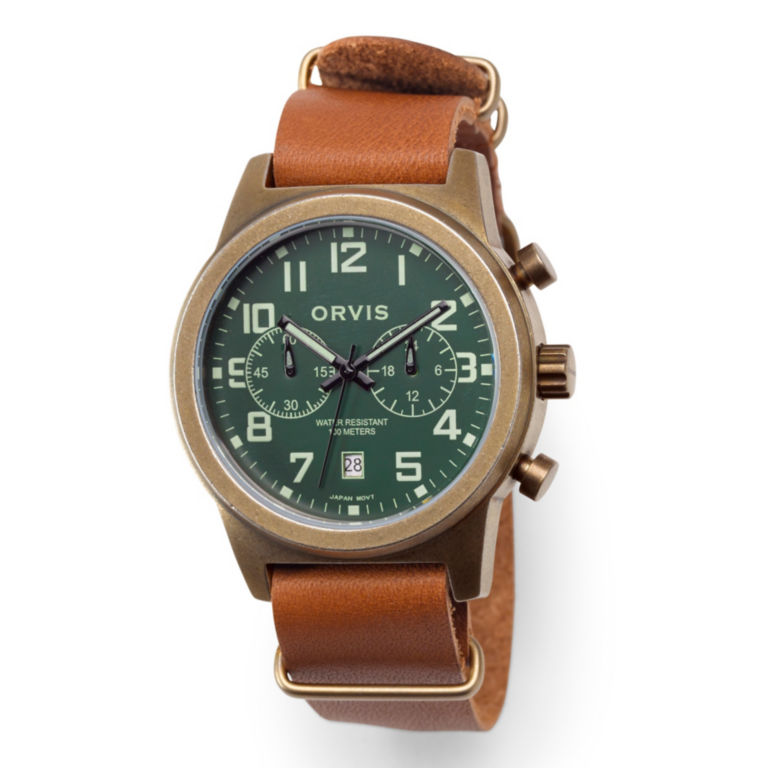 Vintage Leather Field Watch - OLIVE image number 0