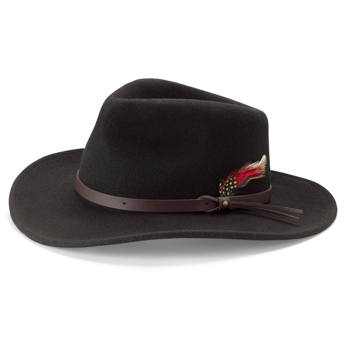 Red Feather Crushable Felt Hat - BLACKimage number 0