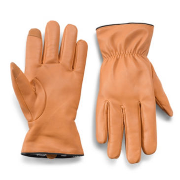 Leather Shearling-Lined Gloves -