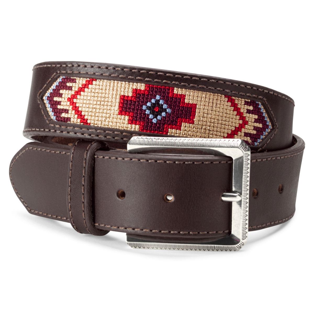 Latigo Leather Southwest Belt - BROWNimage number 0