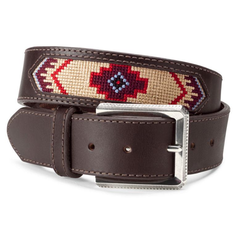 Latigo Leather Southwest Belt - BROWN image number 0