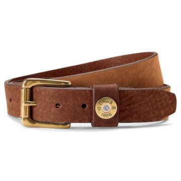 Nubuck Leather Shotshell Belt - TAN image number 0