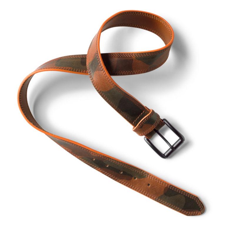 Camo Leather Belt - CAMO image number 1
