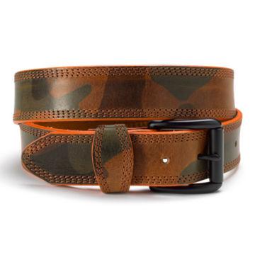 Camo Leather Belt - CAMO image number 0