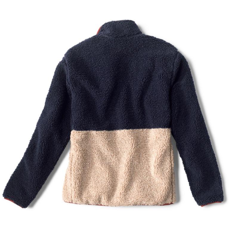 Colorblock Sherpa Jacket - NAVY/NATURAL image number 1