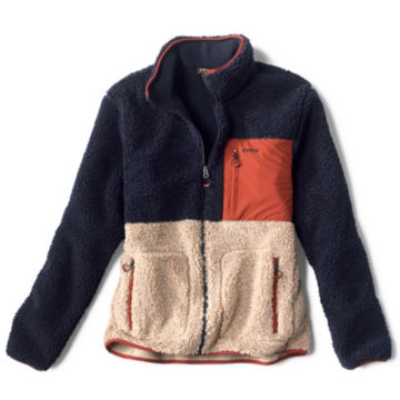 Colorblock Sherpa Jacket - NAVY/NATURAL image number 0