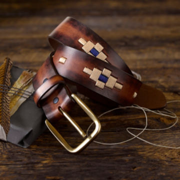 Southwest Waxed Cord Belt - BROWN image number 1