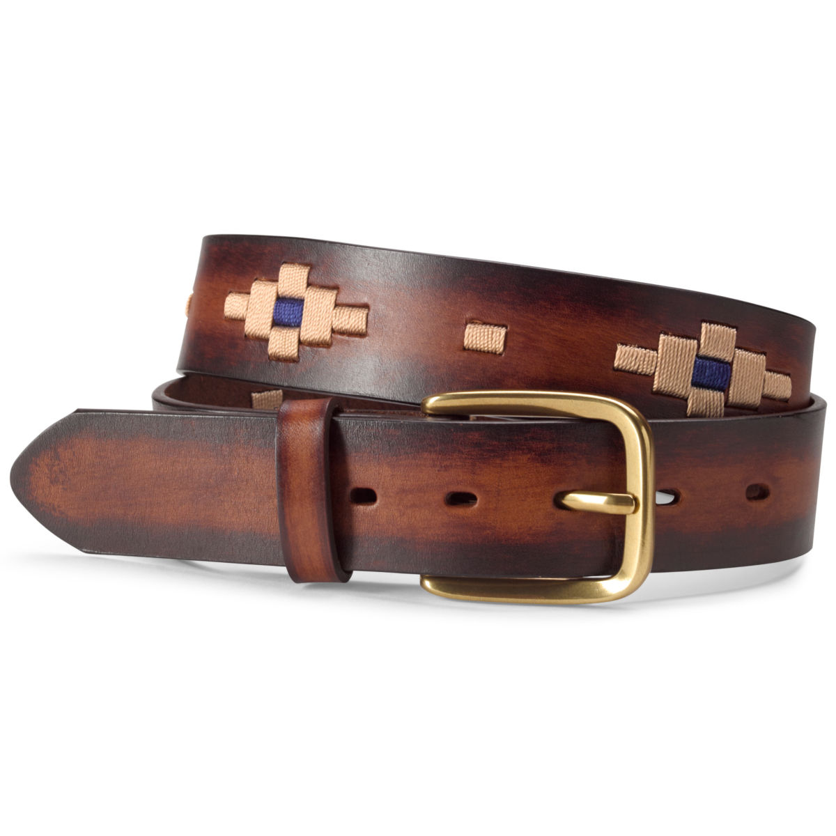 Southwest Waxed Cord Belt - BROWNimage number 0