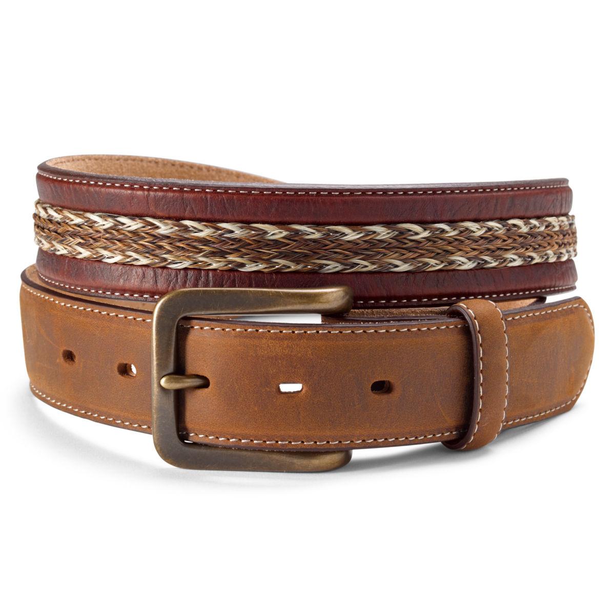 Bison and Horsehair Belt - SANDSTONEimage number 0