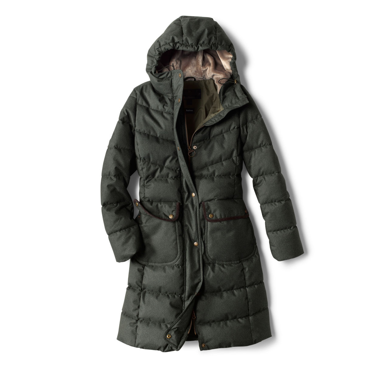 Orvis-Exclusive Barbour® Cranleigh Quilted Parka - OLIVEimage number 0