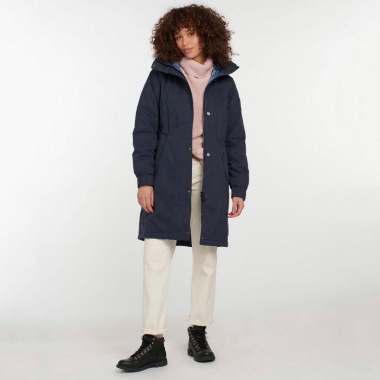 Barbour® Hauxley Hooded Raincoat - NAVY image number 2