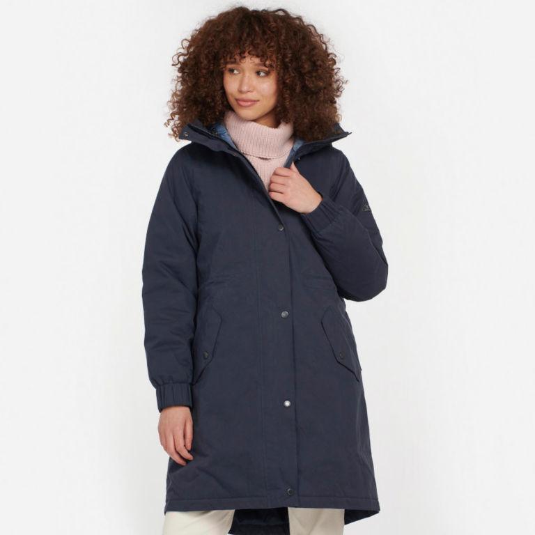 Barbour® Hauxley Hooded Raincoat - NAVY image number 0