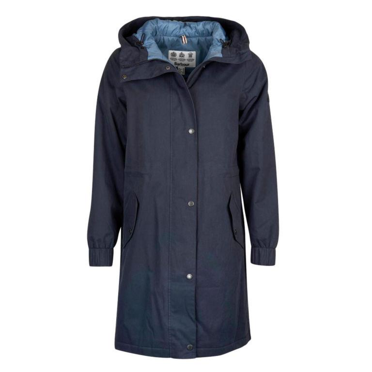 Barbour® Hauxley Hooded Raincoat - NAVY image number 3