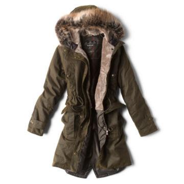 Barbour® Hartwith Faux Fur Hood Parka - OLIVE image number 1