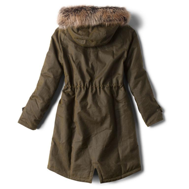 Barbour® Hartwith Faux Fur Hood Parka - OLIVE image number 2