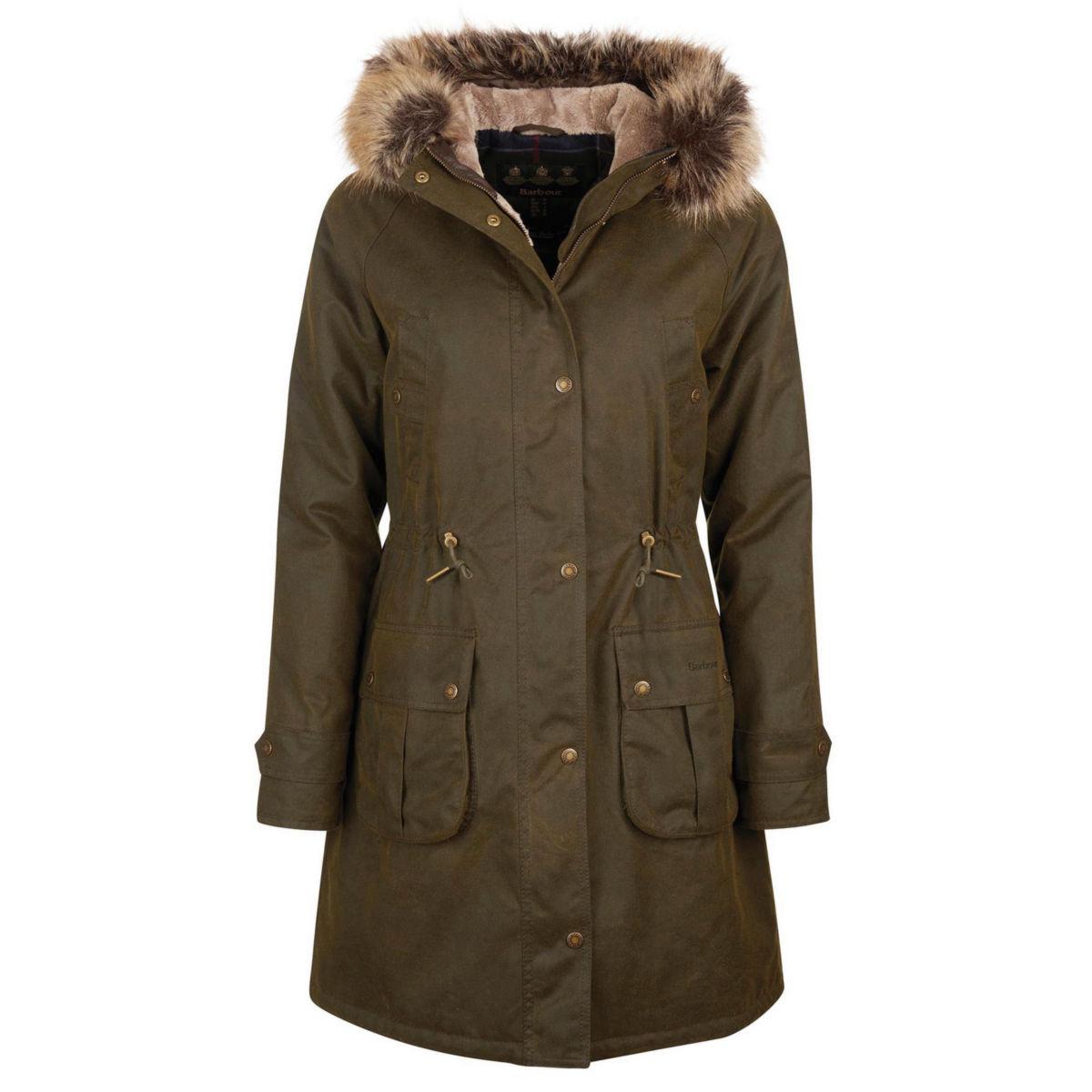 Barbour® Hartwith Faux Fur Hood Parka - OLIVEimage number 0